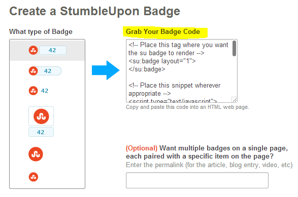 How to Add Stumble Upon Button to Blogger