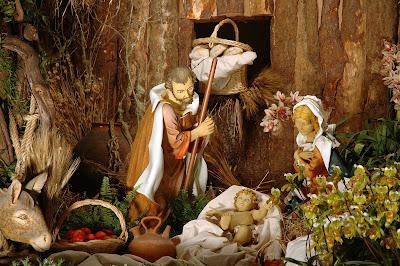 Nacimiento del niño Jesus en Navidad