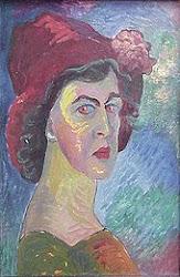 autorretrato de Marrianne von Werefkin.(Rusia1860-Suiza1938)