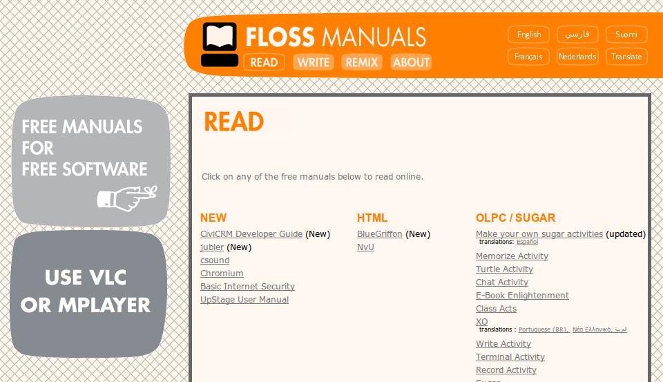 Kumpulan ebook dari FLOSS Manuals