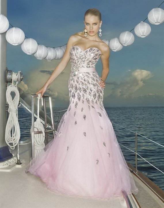 2013 pembe renk elbise modelleri 1 - en güzel pembe renk elbise modelleri