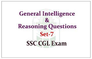 List of General Intelligence & Reasoning Questions for SSC- CGL Exam