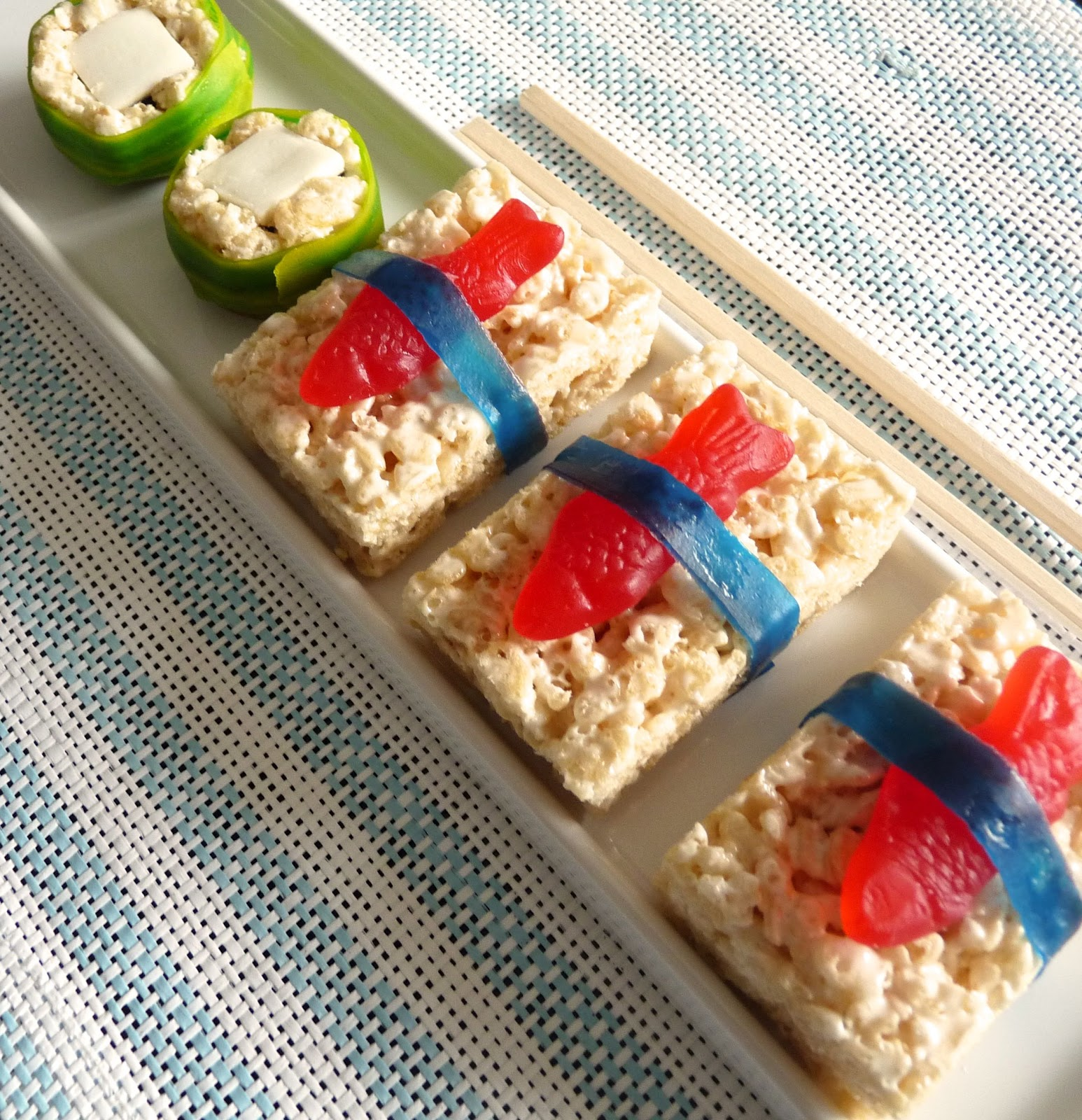 rice krispie sushi ingredients rice krispie treats red swedish fish ...
