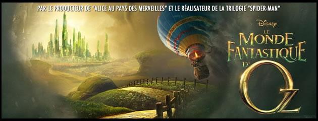 150 places pour le film Le Monde fantastique d'Oz + 20 cahiers + 100 t-shirt