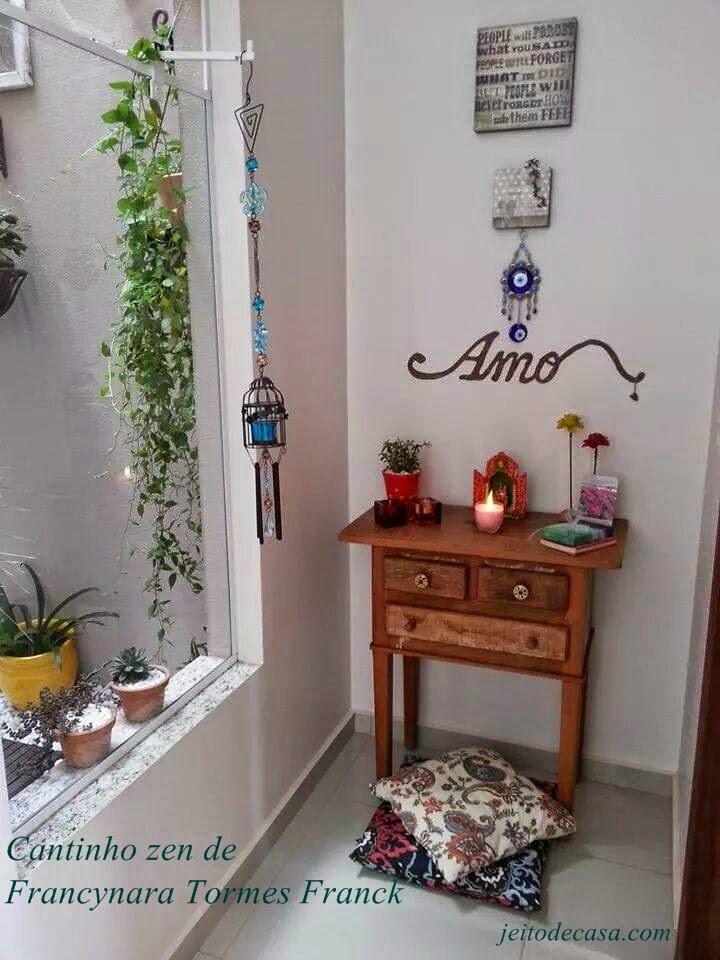 Decoracao Sala Pequena Zen ~  ontem foi da Francynara, mostrando o cantinho zen que criou em casa