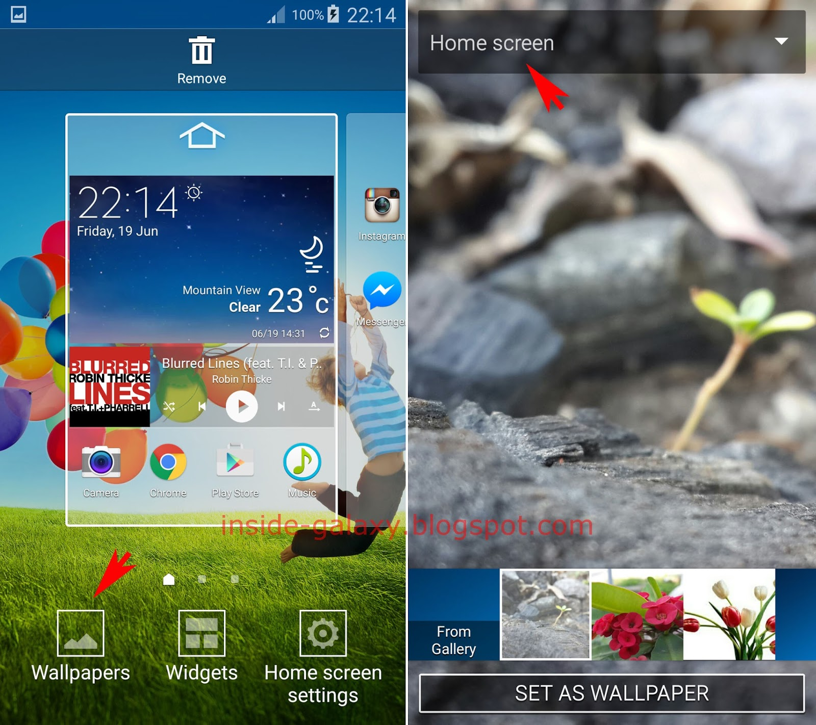 Samsung galaxy s4 how to change home screen wallpaper in for Wallpaper home android