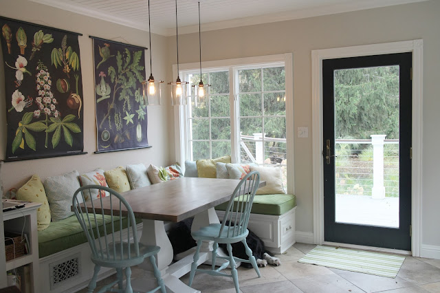 Banquette eating area -- The Impatient Gardener