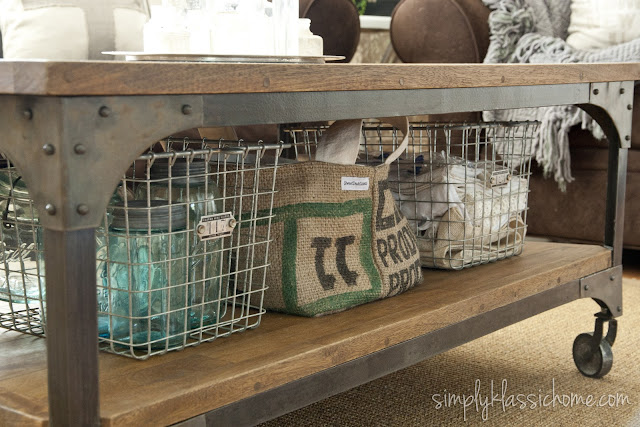 Industrial Farmhouse coffee table from Yellow Bliss Road | Friday Favorites at www.andersonandgrant.com