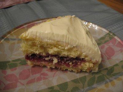 Raspberry Pear Dump Cake