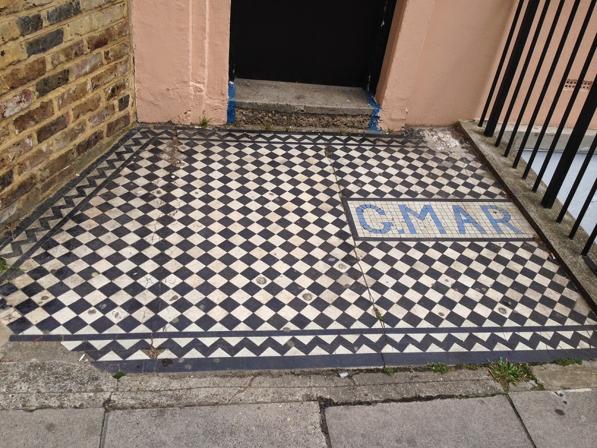 Doorway mosaic, Shirland Road, London