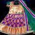 Purple Benaras silk Royal Lehenga