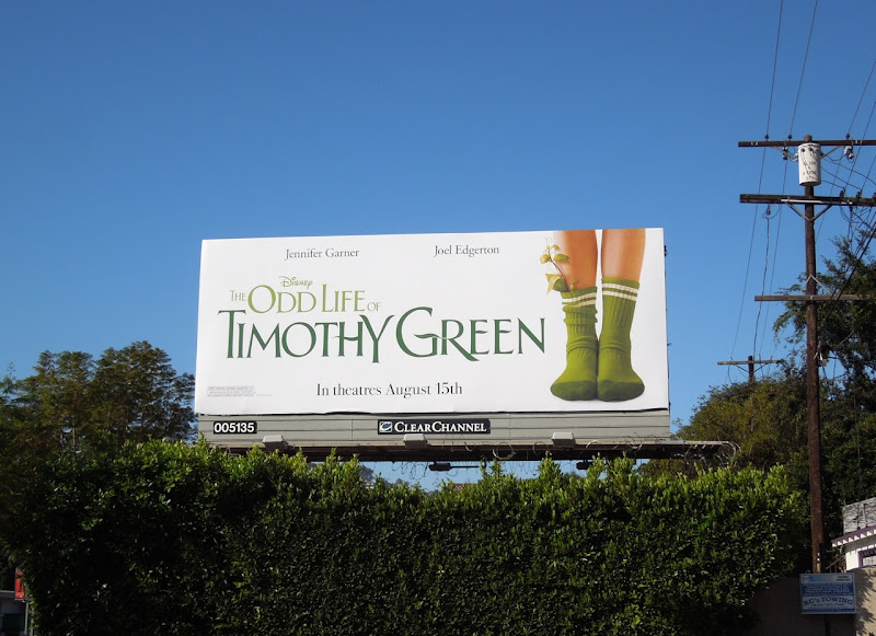 Disney Odd Life Timothy Green billboard