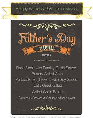 eMeals Father's Day menu