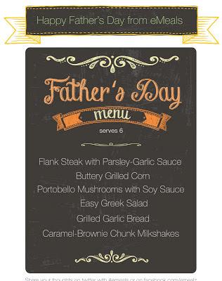 eMeals Father's Day menu