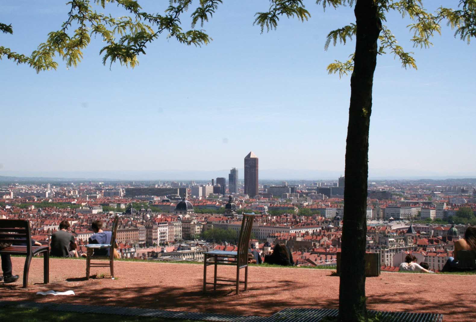 Belvédère Abbé Larue Jardin vue panoramique - visite guidée de Lyon - Nicolas Bruno Jacquet