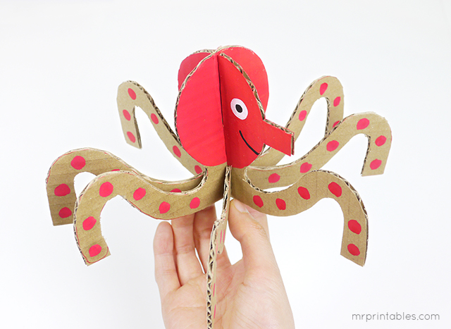 Decorar en familia: Animales marinos de cartón descargables5