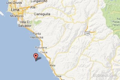 epicentro del sismo 22 diciembre 2012