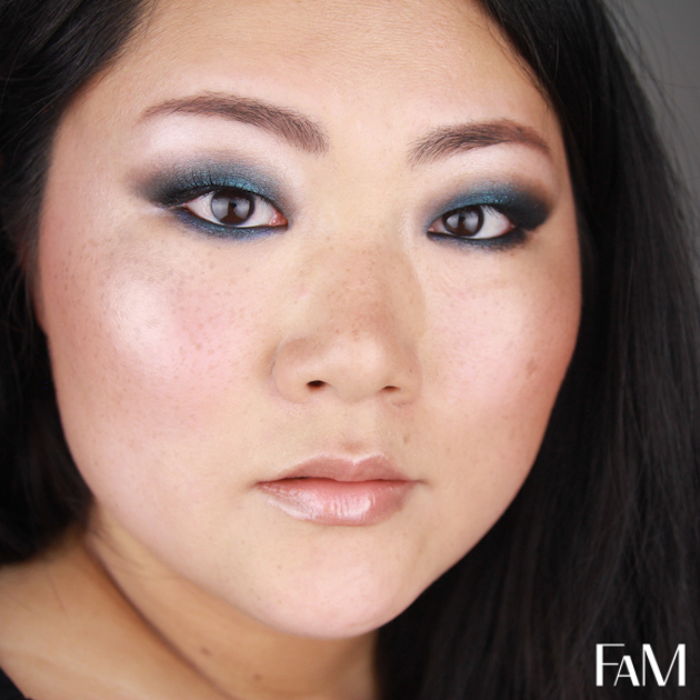 maquillage bleu coloré Aqua blue summer look for asian monolid eyes makeup tutorial futilitiesandmore futilities and more fam beauty blog
