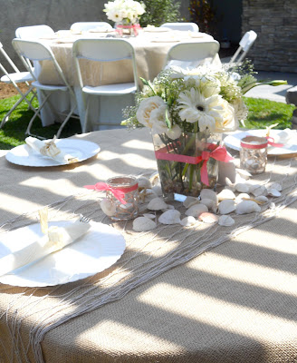 Layered tablescapes Linens overlays burlap and netting topped with