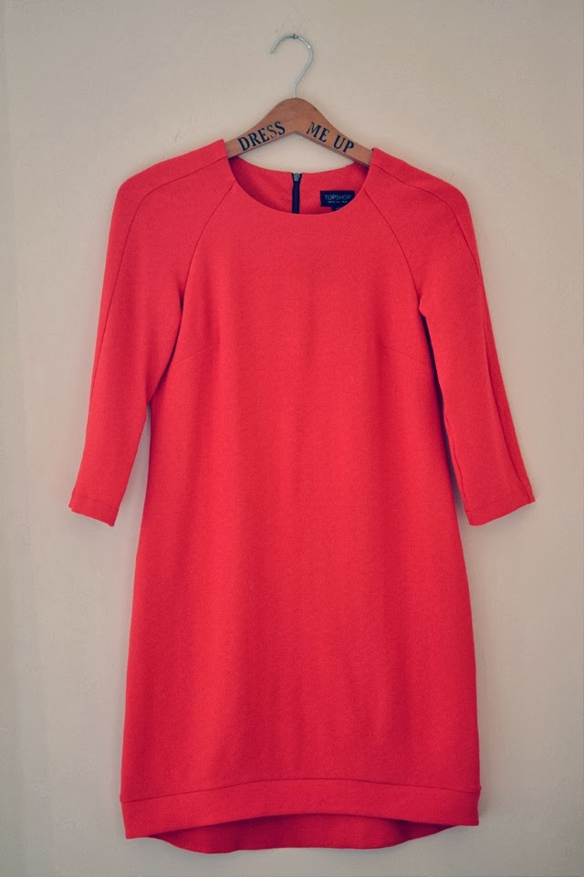 Topshop Bright Orange Dress