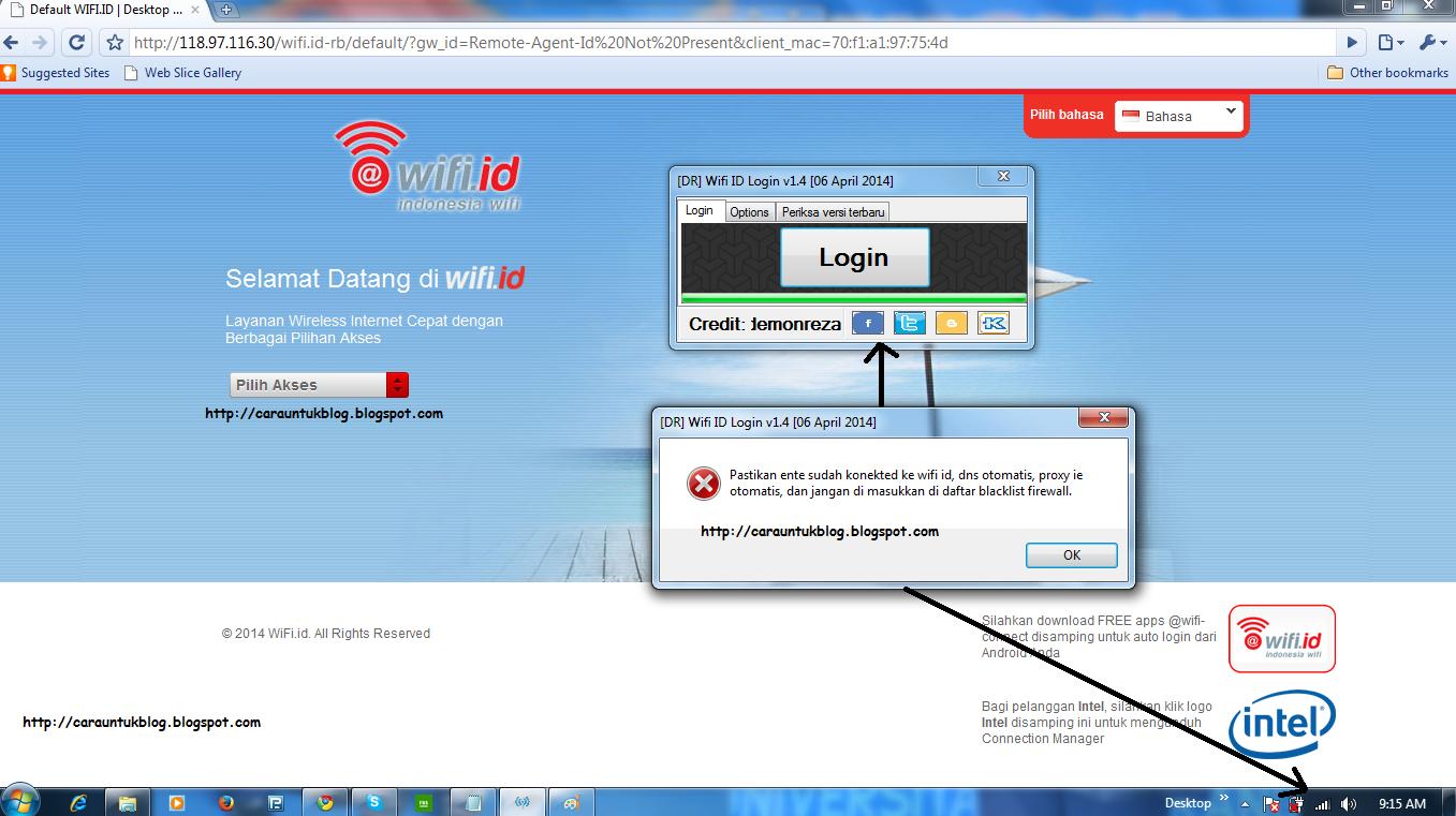 Tips Login Wifi Id tanpa password dan username