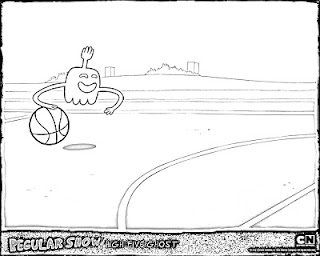 Regular Show coloring pages Mucle man