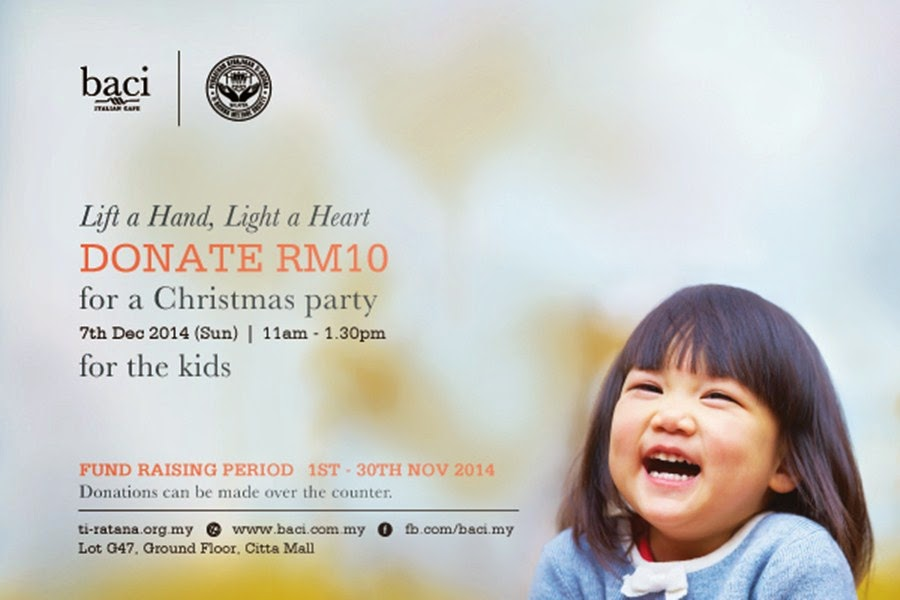 Baci Italian Cafe Launch Special Christmas Campaign for underprivileged