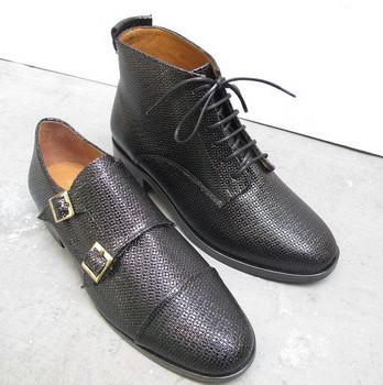 Boots cuir noires Anne Thomas