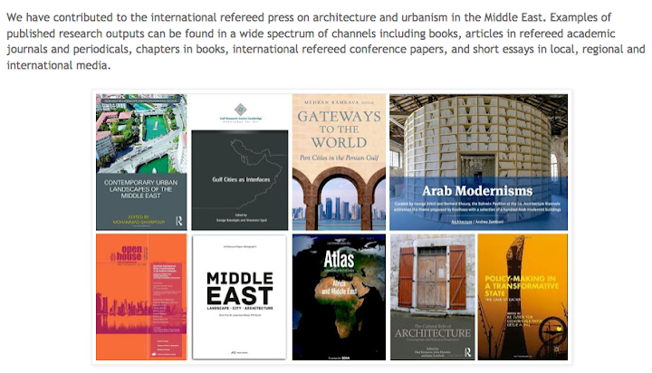 Research on Architecture and Urbanism in the Middle East