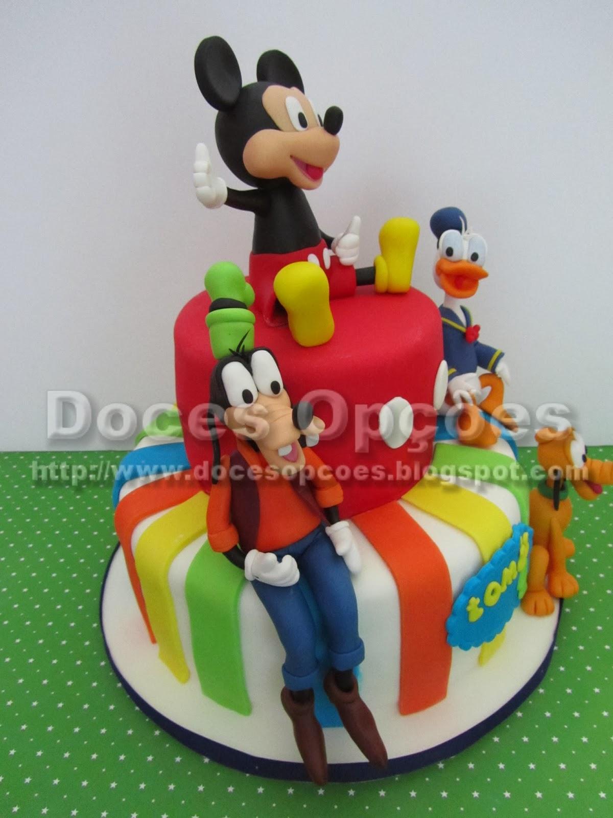 bolo aniversário pateta donald pluto e mickey