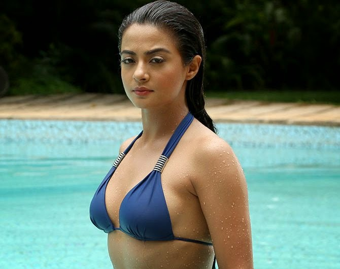 surveen chawla hot bikini wallpaper