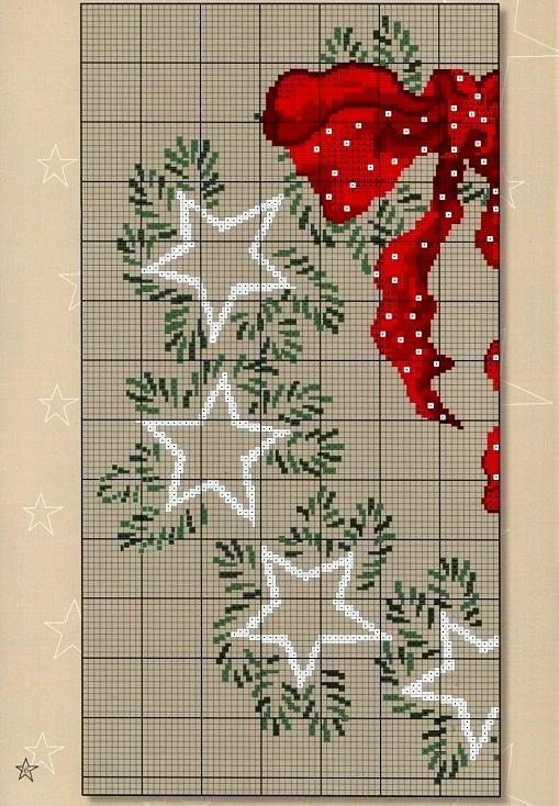 Новогодние венки вышивка схемы