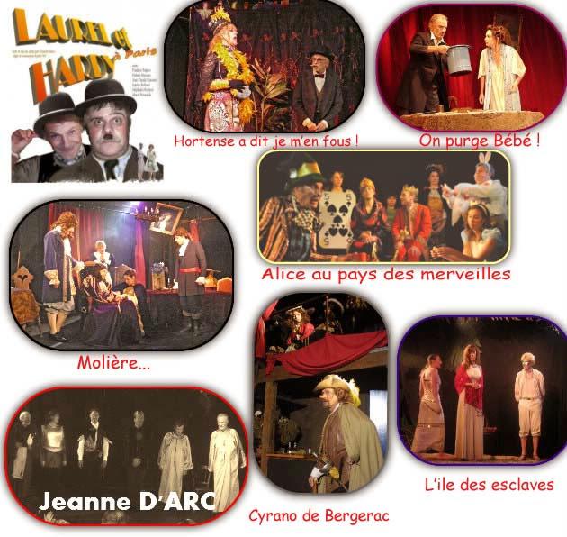 Diverses représentations sur la scène du théâtre de 2003 à 2012...