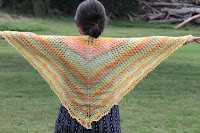 Homespun fleece shawl