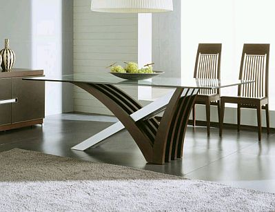 Muebles modernos de comedor de madera for Muebles de comedor en vidrio