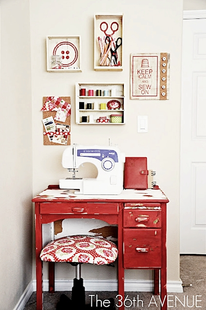 Cute Sewing Room Ideas