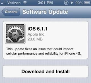 iPhone 4S Sudah Bisa Update iOS 6.1.1