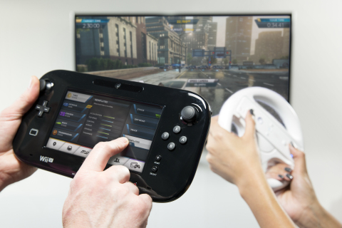 Co-Driver mode in Wii U version of Need for Speed: Most Wanted