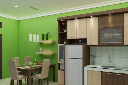 Gambar Interior Desain Dapur Unik Kalem Minimalis