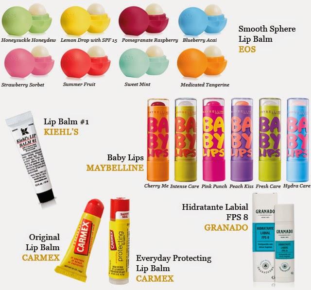 Lip Balms Para Hidratar e Proteger os Lábios - EOS / Kiehl's / Maybelline / Carmex / Granado