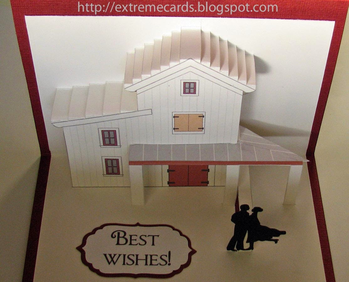 barn origamic architecture card