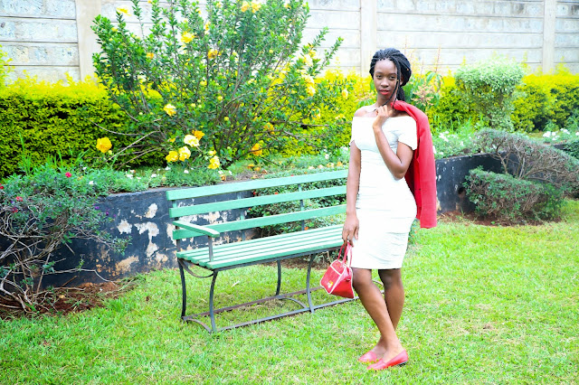 white on red, little white dress, white dress outfit ideas, what to wear, outfit ideas, red blazer outfit, loafers ans a dress outfit, style whit ezil, african fashion blogger, kenyan fashion blogger, sleek matte lipstick,