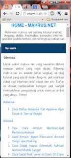 Cara Mudah Membuat Sitemap Blog Ala Mahrus NET Responsive