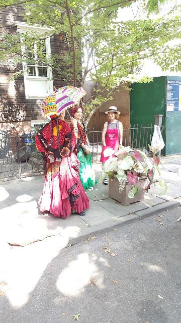 Dancers in Brooklyn Heights