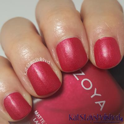 Zoya Matte Velvet 2015 - Amal | Kat Stays Polished