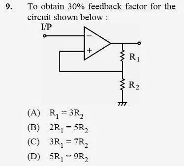 2012 December UGC NET in Electronic Science, Paper III, Questions 9
