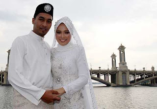 Gambar Farah Af2 dan Johan Johari Majlis Perkahwinan