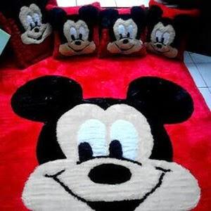 gambar karpet berkarakter mikymouse