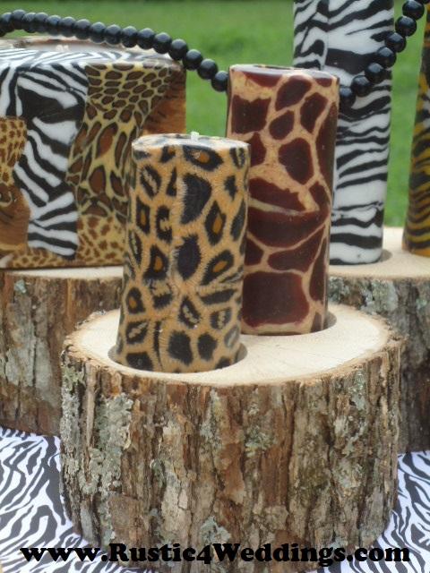 Rustic weddings safari wedding candle stands and