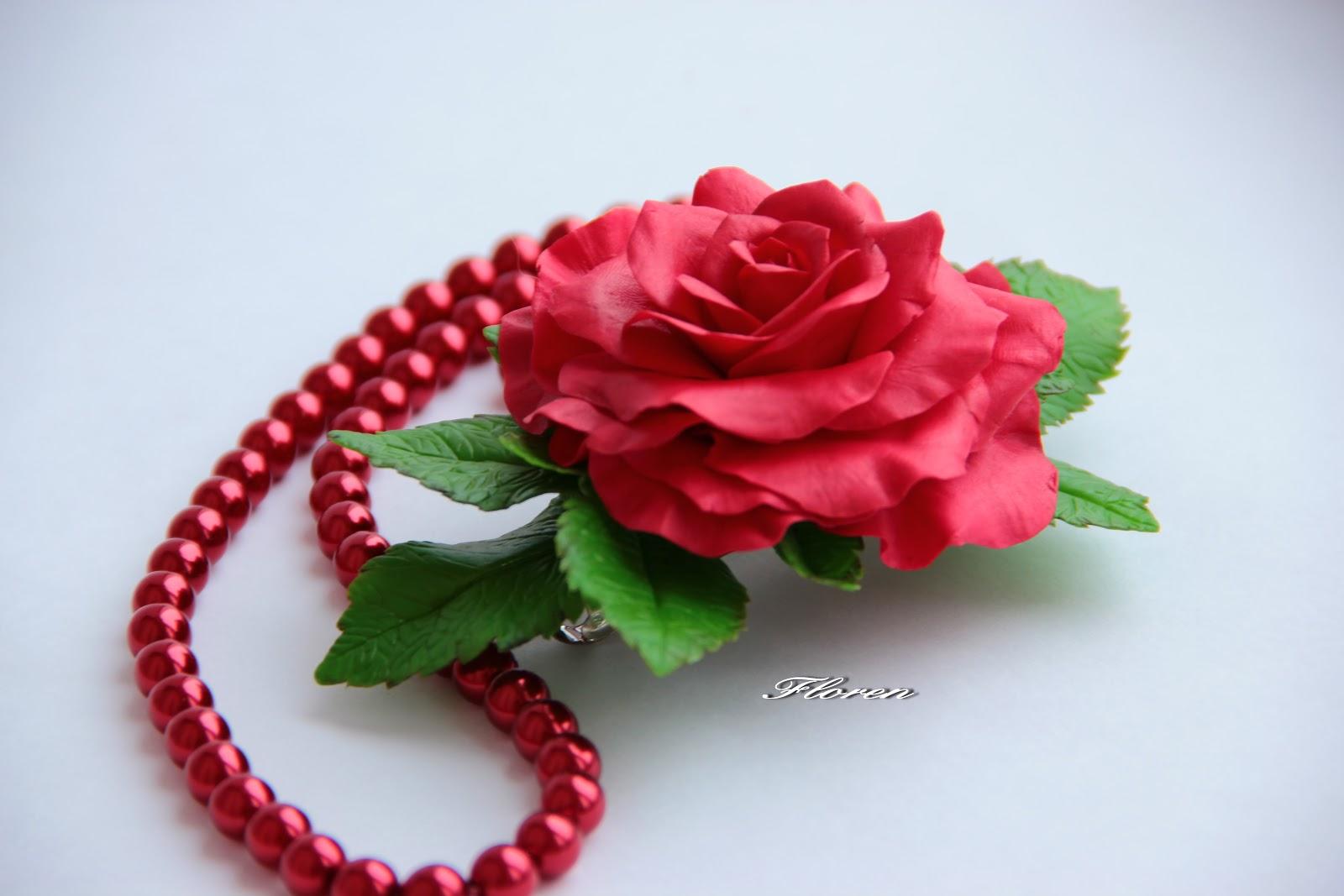 Большая роза из бумаги 98